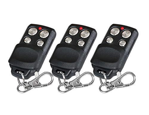 Ersatz-Fernbedienungen, 3Kanal 433,92MHz Rolling Code kompatibel mit Chamberlain 84335EML, 84335E, 84333EML, 84333E, 84330EML, 84330E, 3 Stück, Ersatzteil, hohe Qualität