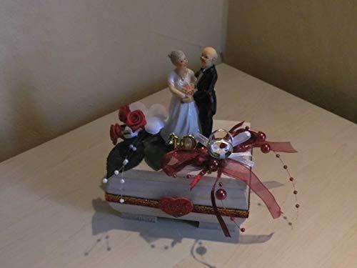 Geschenkbox Dekoration Rubinhochzeit 40.Hochzeitstag Geldgeschenk