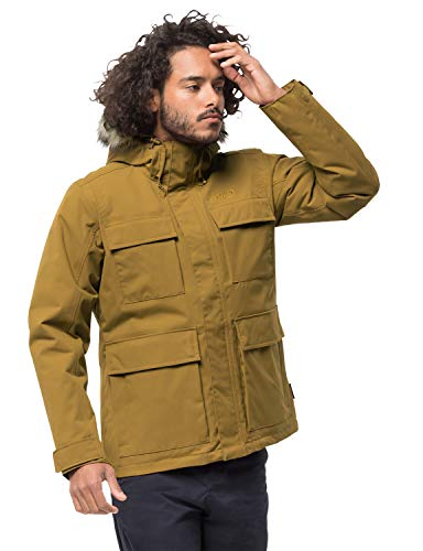 Jack Wolfskin Herren Point Barrow Wetterschutzjacke, golden Amber, XL