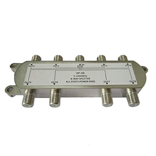 HehiFRlark SP-08 divisor de señal Satélite 8 Vías divisor de cable coaxial de antena RF