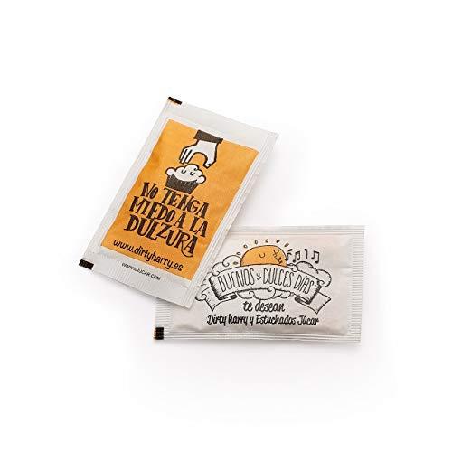 Sobres de azúcar blanco de Dirty Harry (500 unidades de 6 gramos)