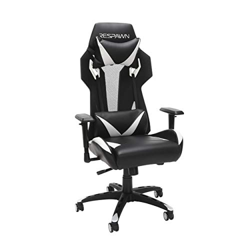 RESPAWN 205 Racing Style Gaming Chair, in White chair gaming