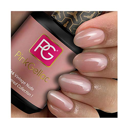 Pink Gellac Shellac Gel Nagellack 15 ml für UV LED Lampe | 166 Vintage Nude Rosa Rose | Gel Nail Polish for UV Nail Lamp | LED Nagel Lack Gellack Nagelgel