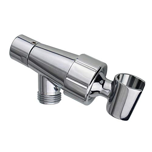 Shower Arm Holder Bracket, with Brass Nut and 360 Degree Adjustable Brass Ball Joint support, for use on Handheld Shower Head and on wall Shower Arm, Polished Chrome