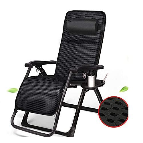 WGFGXQ Garden Chairs,Outdoor Reclining Sun Lounger, Zero Gravity Folding Chair Bed Seat Patio Garden Poolside Recliner Loungers-Seduce