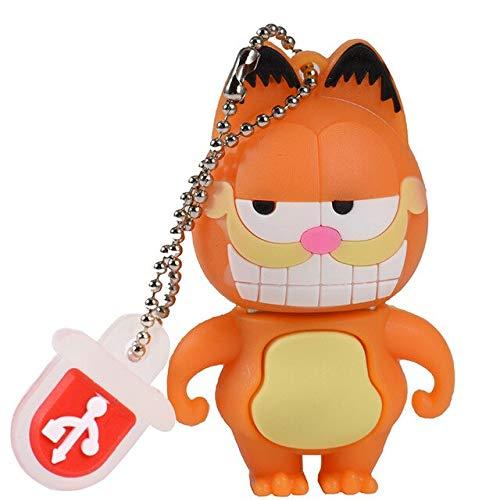 USB Memory Stick Keyring Gift Stylish Cartoon Mini Cat 16GB 32GB 64GB Portable Key USB External Storage 1B