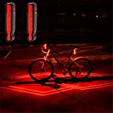 VASTFRIE Rear Bike Lights Laser Pointer Cat Toy USB Rechargeable Bicycles Scooter Skateboard Laser Lane Kids Gift Red Blinking Accessories Cycling Safety Tail Light Road Bike Dog Trailer for Bicycle