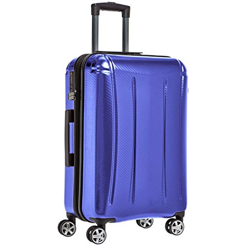 AmazonBasics Oxford Expandable Spinner Luggage Suitcase with TSA Lock - 26.8 Inch, Blue