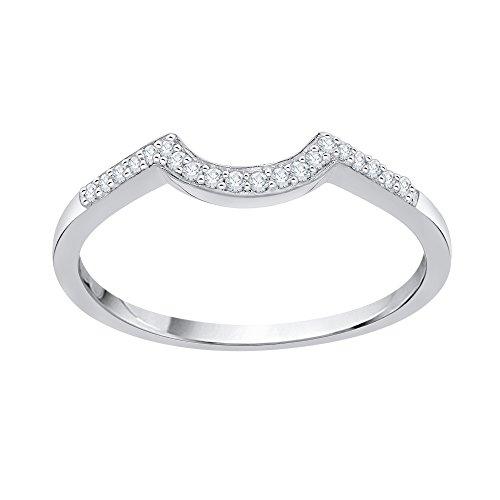 KATARINA Alianza de boda de diamantes en oro de 14 k (1/20 quilates, J-K, SI2-I1)