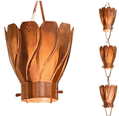 Monarch Pure Copper Akira Extra Large Rain Chain, 8-1/2-Feet Length