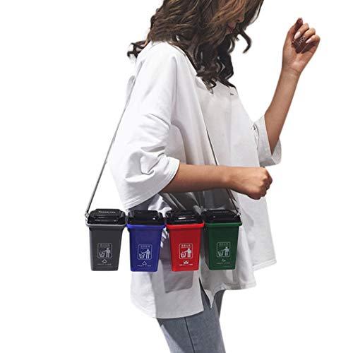 Mülleimer Kuriertaschen Damentasche Neuartiges Design Neutral Herrentasche Mode Umweltschutz Original Müllklassifizierung Neu