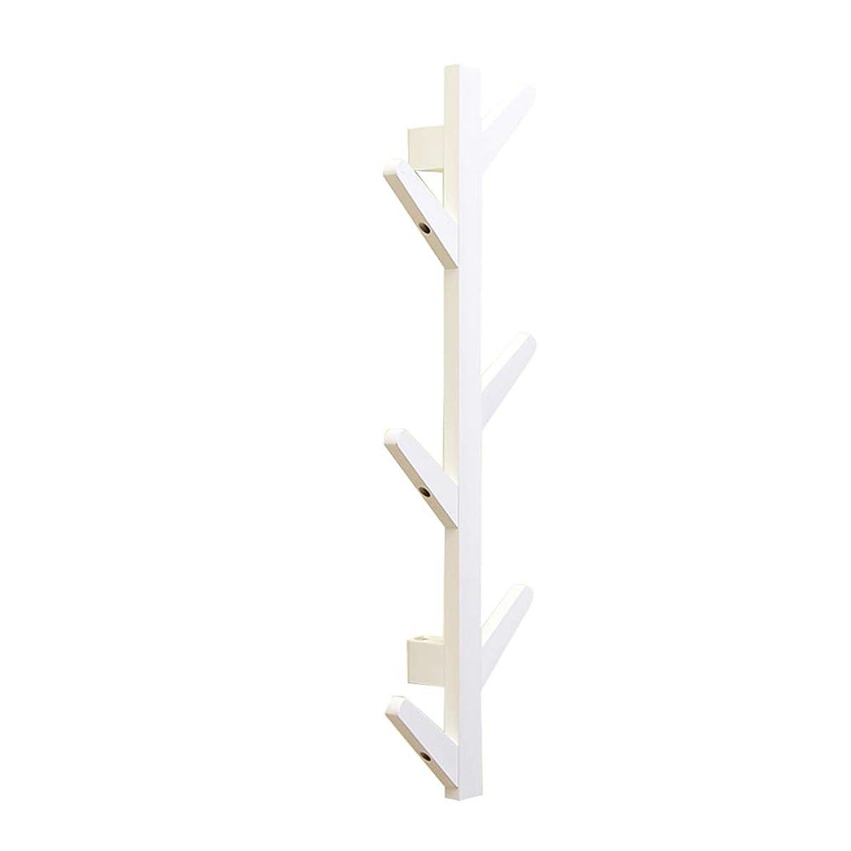 原理欺く畝間北欧のミニマリストの壁ハンガークリエイティブポーチ寝室の部屋の壁コートラック壁掛け日本の装飾的なフック (Color : White, Size : 78cm*7cm*22cm)