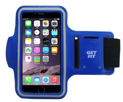 Cobalt Blue iPhone 7 and iPhone 6/6s (4.7') Sports Armband, Running, Jogging, Exercise Workout Stretchy Armband with Key Holder Made for iPhone 7 and iPhone 6/6s Color Cobalt Blue