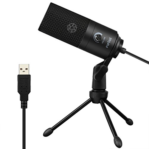 USB Microphone,Fifine Metal Condenser Recording Microphone for Laptop MAC...