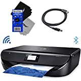 HP Wireless Printer for Home use Envy 5055 All-in-One Wireless Bluetooth Photo Printer, Scanner & Copier, Mobile/Document Printing + Xtech USB Cable & 2 HeroFiber Cloths Compatible with HP Printer