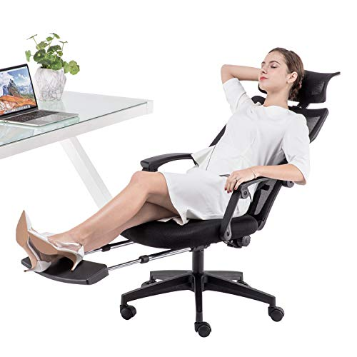 Dripex Ergonomic Office Chair with Footrest, 140°...