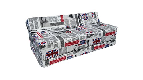 Matelas pliant sofa pour adultes et enfants, choix des couleurs 200 cm de long (LONDON2 )