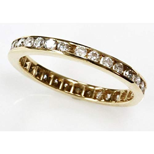 0.75 famous ct tw Natural Diamond Max 42% OFF Solid Channel Ful Set 14k Gold Yellow