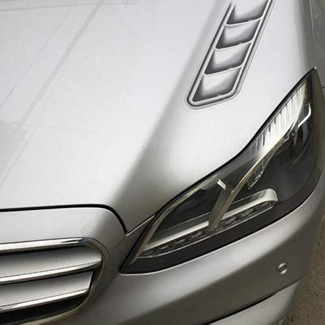 白いモノグラフセージLUOSAI 2ピースクリエイティブ3d車のステッカーサイドフェイクベントフロントカバー装飾デカールクールデザイン車の装飾3d車のステッカー自己接着