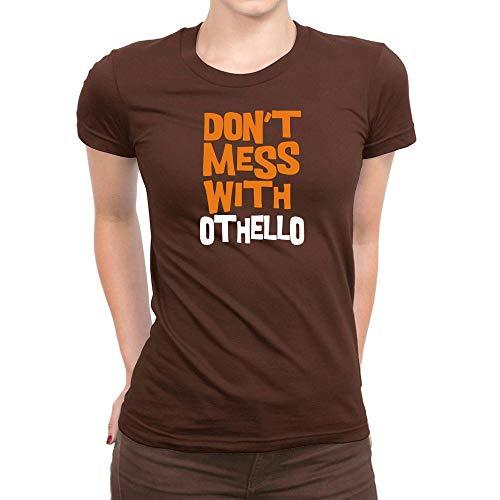 Idakoos Don't Mess with Othello Bicolor Damen T-Shirt