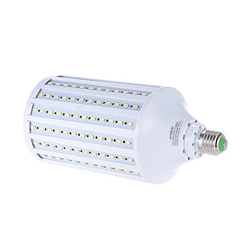 Andoer 135W LED Luz Bombilla Lámpara Bulb Suave Iluminación para Fotografía del Estudio 216 Perlas de 5500K E27