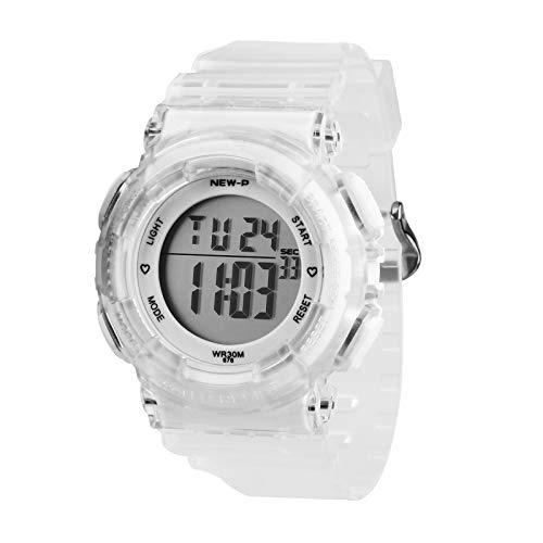Reloj Digital Impermeable Deportivo con Alarma y Cronómetro