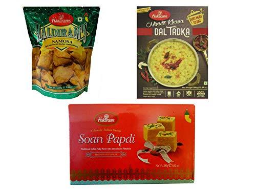 Indisches 3-Gänge-Menü für 2 Personen- Mini Samosa, Dal Tadka, Soan papdi-PORTOFREI