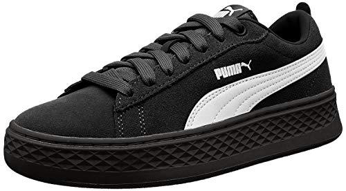 Puma Damen Smash Platform SD Sneaker, Schwarz (Puma Black-Puma White 02), 39 EU