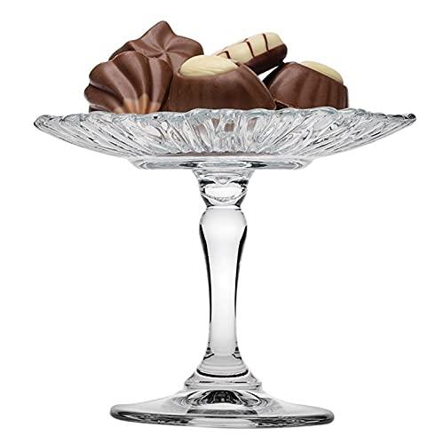 Soporte para Tartas Torta de cristal Soporte Claro Candy Postre plato Sirviendo Plato Placa de pastelería Pantalla Magdalena Soporte para bodas Fiesta de cumpleaños Soporte de Pastel ( Color : A )