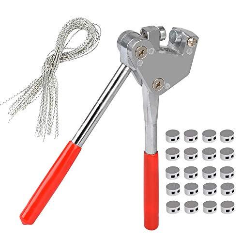 Gearmax Plombenzange Set geeignet für Bleiplomben Durchmesser 8mm - 10mm