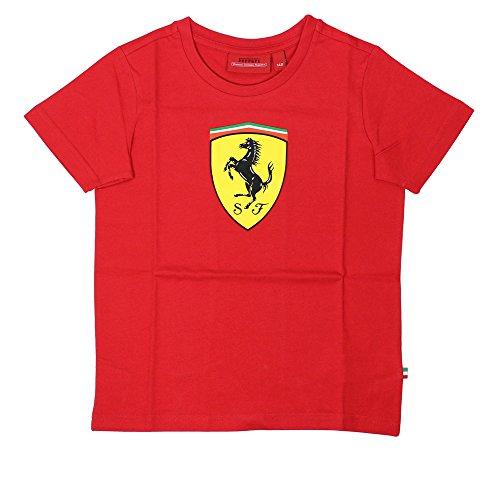 Ferrari Camiseta de escudo rojo para niños - 5100905-600, 3-4, Rojo