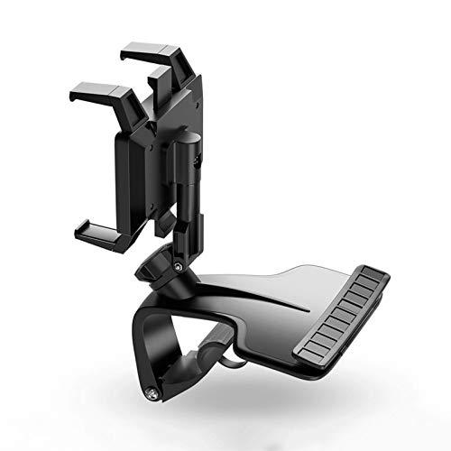 Seii Soporte Coche MovilUniversal Soporte Telefono Coche Soporte Giratorio para GPS En 360 Se Utiliza para El Tablero De Instrumentos del Automóvil Visera Solar Espejo Retrovisor Decent