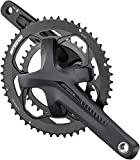 Full Speed Ahead - Omega Adventure Series Aluminum Double Crankset | MegaExo and ABS Technology | for Road and Gravel | Shimano SRAM 10/11 and FSA 11 Speed Compatible | 30/46T 165mm