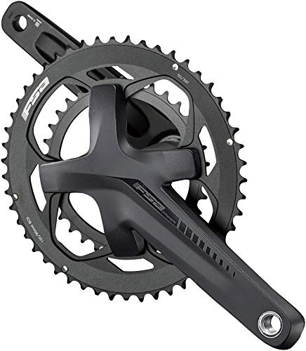 Full Speed Ahead - Omega Adventure Series Aluminum Double Crankset   MegaExo and ABS Technology   for Road and Gravel   Shimano SRAM 10/11 and FSA 11 Speed Compatible   30/46T 165mm