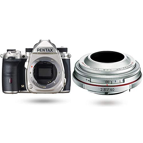 【HD DA40mm Limited パンケーキレンズセット】PENTAX K-3 Mark III ボディキット シルバー + HD PENTAX-DA 40mmF2.8 Limited シルバー 超軽量薄型パンケーキレンズ