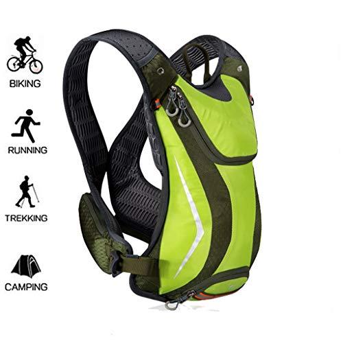 WUZHENG Fahrradrucksack-5L Fahrradrucksack Daypack Fahrradrucksack Atmungsaktiv Leichtgewicht für Outdoor-Sportarten Reisen Bergsteigen Männer Frauen,Green