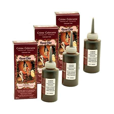 Lote de 3 cremas colorantes de color caoba, 100% natural, sin ...