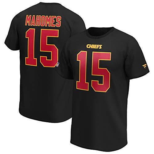 Fanatics NFL T-Shirt Kansas City Chiefs Patrick Mahomes schwarz Iconic Name & Number Trikot Jersey (L)