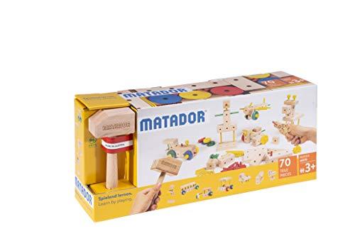 Matador 21070 M070 Baukasten, holzfarben, bunt