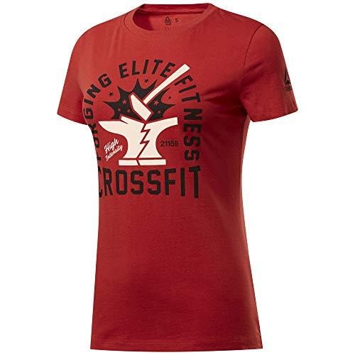 Reebok Damen Cf Anvil Graphic Tee Kurzärmeliges T-Shirt, Legacy red, XS