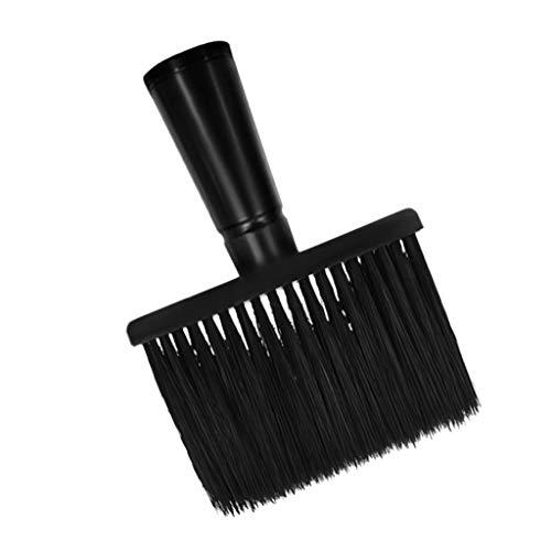 Fenteer Coupe De Cheveux Grosse Tête Brosse Cou Plumeau Pinceau Brosse avec Poignée - Poignée lisse