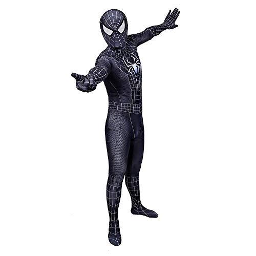 WEDSGTV Morphsuit Kostuum 3D Gedrukt Spin Patroon Cosplay Kostuum Geweldige Spiderman Volwassen Kinderen Blauw Strakke Bodysuit Jumpsuit Pak