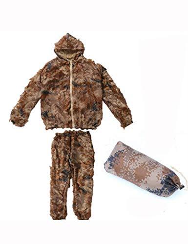 Dschungel-Tarnungs-Kleidungs-Wüsten-Blatt-Tarnungs-3D Im Freien Verwendbar Für Die Fotografie-Vogel-Klettern-Bergkampieren-Klettern-Gebirgstarnung-Kleidungs-multi Farbe Wahlweise Freigestellt