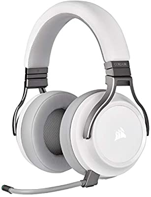 Corsair Virtuoso RGB Wireless High-Fidelity Gaming Headset (7.1 Surround Sound, Memory Foam Earpads, Omni-Directional Microphone with PC, Xbox One, PS4, Switch and Mobile Compatibility) - White from Corsair