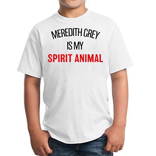 Meredith Grey is My Spirit Animal Greys Anatomy Unisex Kids Children's T-Shirt Kinder Kid 5-13 Ages X-Large