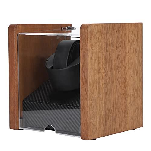 Enrollador de reloj, caja de almacenamiento de reloj de nogal eléctrica automática no magnética mecánica para cuerda de reloj para colección de relojes(Coctelera de mesa de nogal 1 + 0, Transl)