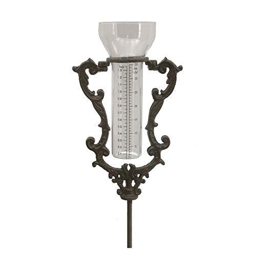 Chemin_de_campagne Regenmesser auf Erdspieß, Gusseisen, 100 cm x 16 cm