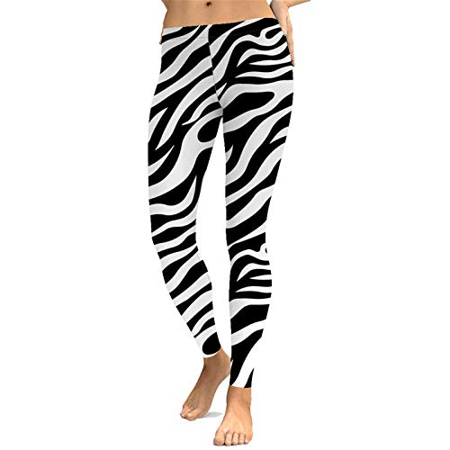 Mallas de Deporte de Mujer, Patrón de la cebra elásticas suaves de yoga pantalones de las mujeres flacas de cuerpo entero Deportes polainas Operando Pilates Gym Fitness Medias Pantalon de Correr Pilat