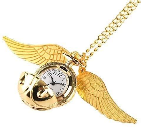 YYhkeby Reloj de Bolsillo Colgante de la Bola Creatividad Espía de Oro Regalo for el Reloj del Cuarzo del Collar de los niños Precioso Reloj de Bolsillo Jialele