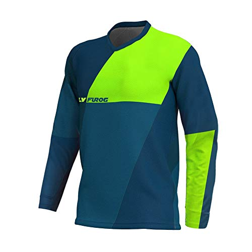 UGLY FROG Head MX Jersey Street Rebel Orange - Langarm Funktions-Shirt Für Moto-Cross, BMX, Mountain Bike, Offroad